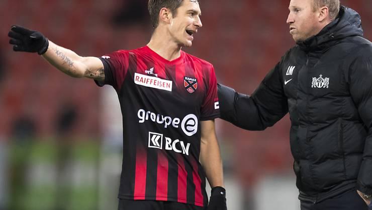 Charles-André Doudin (links), Mittelfeldspieler von Neuchâtel Xamax, fällt mit einer Knieverletzung mindestens zwei Monate aus