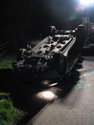 Der Unfallfahrer befand sich alleine im Auto.