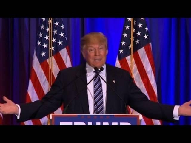 Donald Trump spricht in Florida zu Unterstützern: Ted Cruz hat Maine für sich entschieden, weil es nahe an Canada ist, meint er.