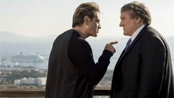 Lucas Barrès (Benoît Magimel, links) hat Robert Taro (Gérard Depardieu) viel zu verdanken, Loyalität jedoch lässt er vermissen.David Koskas/Netflix