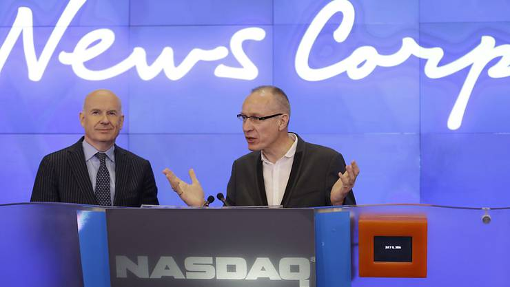 News Corp-CEO  Robert Thomson spricht an der Börse in New York. (Archivbild)