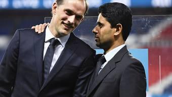 Erfolgreiches Pariser Duo: Der deutsche Trainer Thomas Tuchel (links) und der katarische Präsident Nasser Al-Khelaïfi