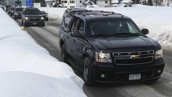 Donald Trumps Fahrt vom Wef in Davos an den Zürcher Flughafen hat den Schweizer Online-Medien viele Klicks eingebracht.