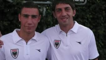 Angekommen im Brügglifeld: Artur Ionita (links) und Sergej Alexejew. (asu)