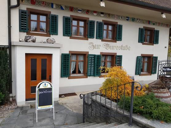 """Buchs, 10. November: Das Traditionsrestaurant """"Zur Burestube"""" ist Konkurs. Das Restaurant wurde an die Zuger Firma Bader Gastronomie & Consulting verpachtet, welche eine Geschäftsführerin einsetzte."""