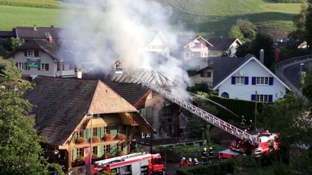 Mehrfamilienhaus-Brand in Heimiswil