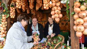 Zwiebel ist nicht gleich Bio-Zwiebel: Das haben irische Wissenschafter jüngst herausgefunden. Das Bild stammt vom Oensinger Zibelimäret 2015.