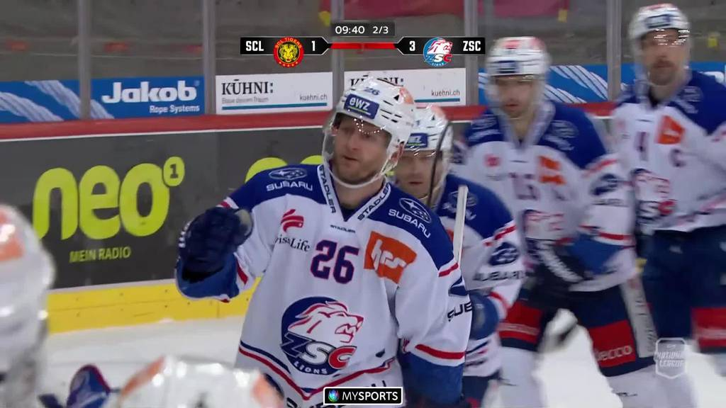 Der ZSC besiegt die  SCL Tigers 5:2  - Lions in den Playoffs
