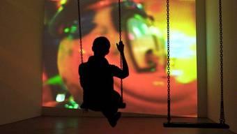 Eine Video-Arbeit der prämierten Künstlerin Sabina Baumann im Zürcher Helmhaus (Archiv)