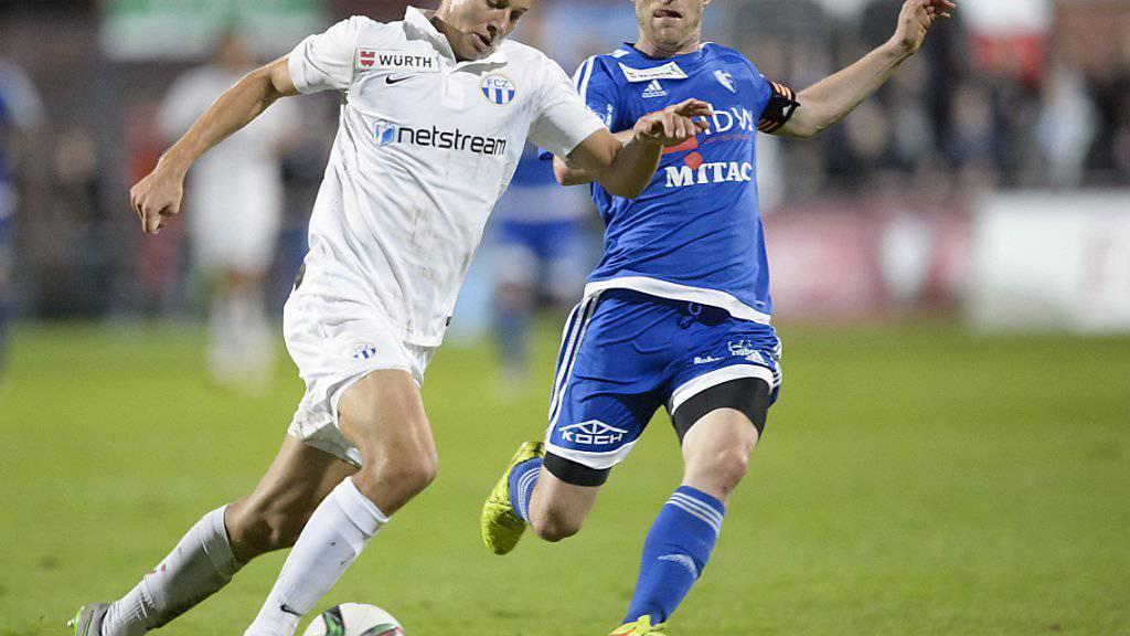 Der Wohler Alain Schultz (rechts) hier im Cupmatch gegen Zürich