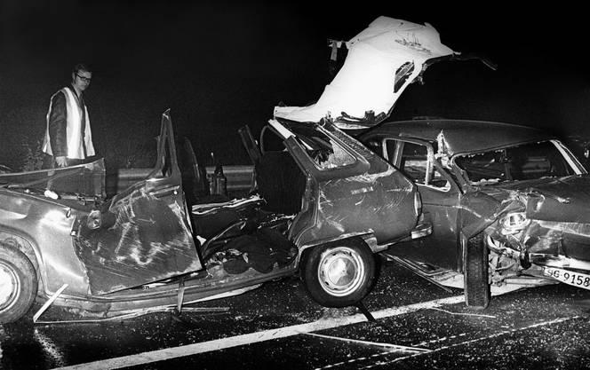 Mani Matter starb 1972 bei einem Autounfall bei Kilchberg.