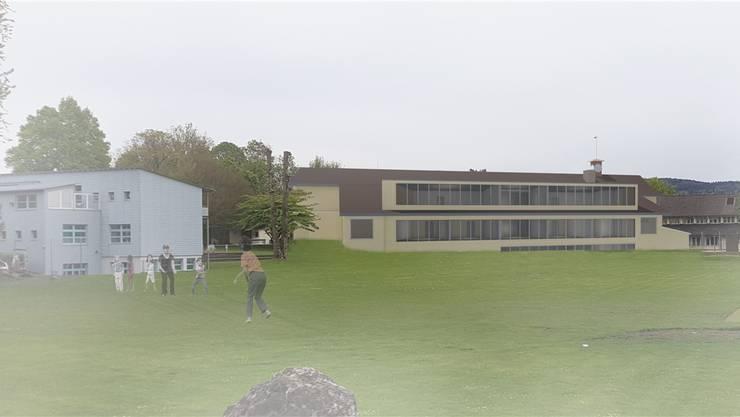 Über die Erweiterung des Schulhauses Büel A werden die Stimmberechtigten am 23. September befinden.