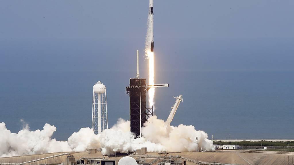Die Astronauten sind unterwegs zur ISS
