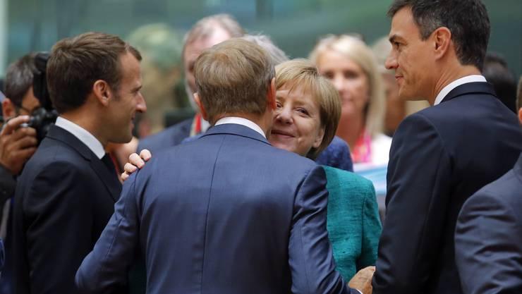 Merkel beim Treffen des EU-Rats.