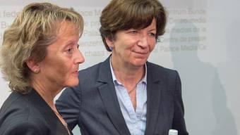 Brigitte Hauser-Süess (r.) an der Seite von Ex-Bundesrätin Eveline Widmer-Schlumpf.
