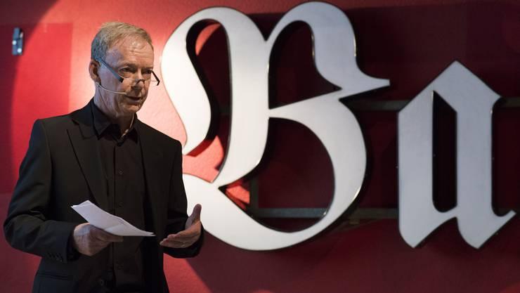 Hans Wanner hält die Eröffnungsrede