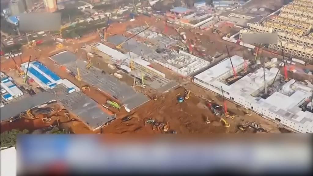 Wuhan: Express-Spital innert zehn Tage gebaut