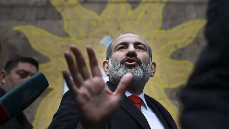 Erste Resultate deuten auf einen klaren Sieg bei der Parlamentswahl hin: Armeniens Ministerpräsident Nikol Paschinjan.