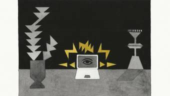 Eines der Werke in der Druckgrafik-Ausstellung.