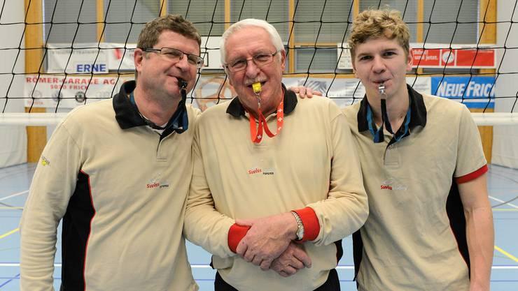 Schiedsrichter-Familie Wagner: Jeannot, Markus und Luc Wagner (von links).