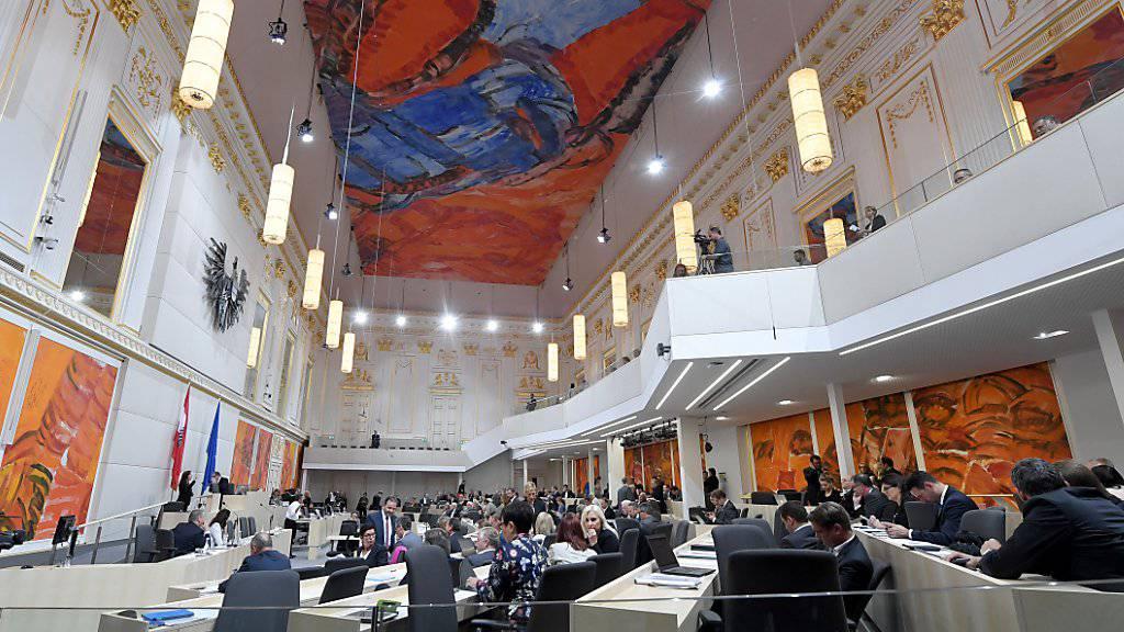 Österreichs Nationalrat im Ausweichquartier in der Hofburg.