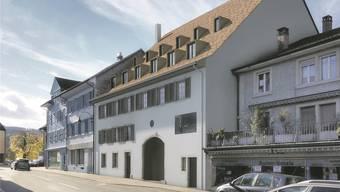 Die Fürstenmühle-Scheune an der Delsbergerstrasse wird zu einem Vorzeigeobjekt in Laufens Vorstadt.