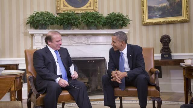 Pakistans Premier Nawaz Sharif bei Barack Obama im Weisse Haus