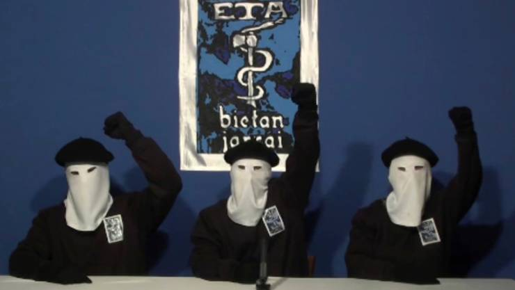 ETA-Video aus dem Jahr 2011: In einem Brief haben die baskischen Separatisten ihre Auflösung bekanntgegeben.