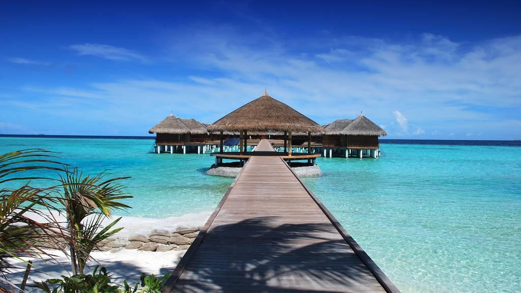 Malediven Ferien Meer Strand