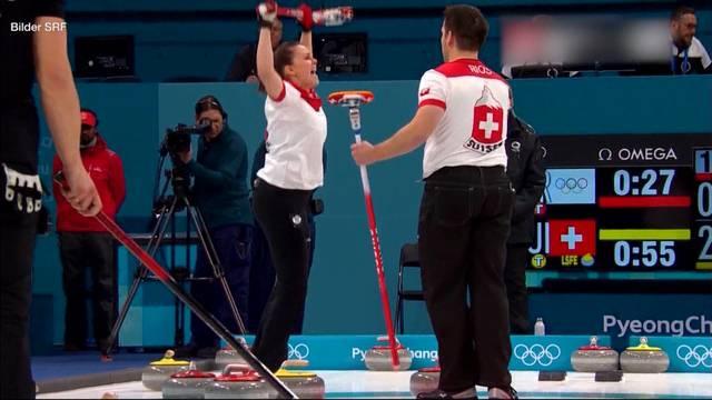 Olympia-Medaille für Schweizer Mixed-Curler sicher
