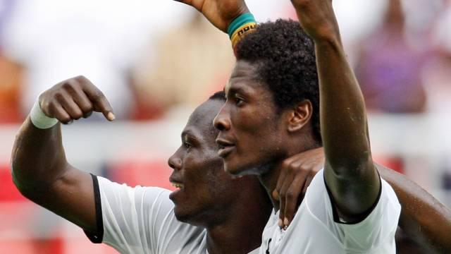Ghanas Gyan (rechts) war mit seinem Tor für die Entscheidung besorgt
