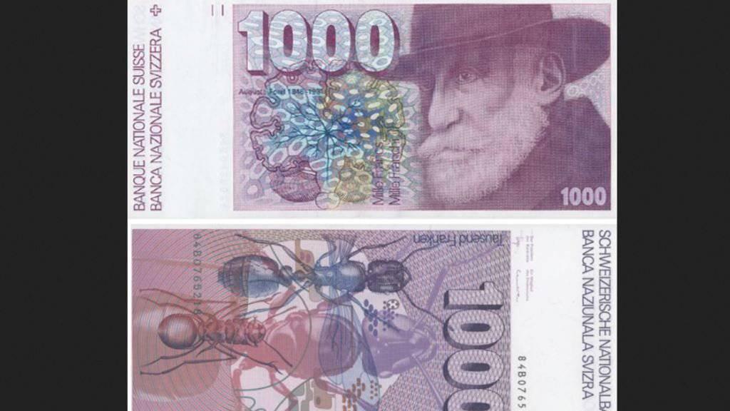 Für die sechste Banknotenserie von 1976 - im Bild die Tausender-Note - soll keine Umtauschfrist mehr gelten.
