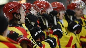 Die Spieler des HC Sierre müssen geduldig sein: Der NLB-Aufstieg wurde um mindestens ein Jahr verschoben.