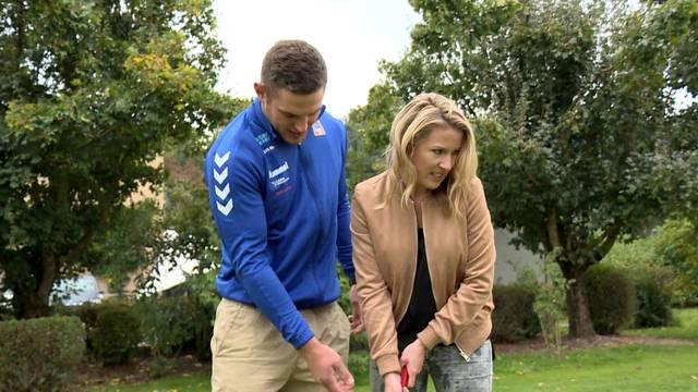 Remo Käser als Golflehrer