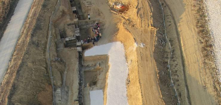 Kilianstollen bei den Ausgrabungen