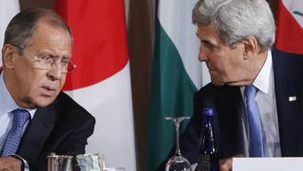 Da sprachen sie noch miteinander: US-Aussenminister John Kerry (rechts) und sein russischer Amtskollege Sergej Lawrow am 22. September in New York.
