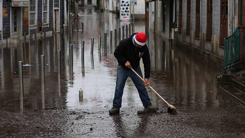 Überschwemmung in Agueda in Portugal.