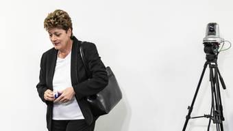 Die Zürcher Bildungsdirektorin Silvia Steiner (CVP) an einer Medienkonferenz zur aktuellen Lage aufgrund des Coronavirus (Archivbild)