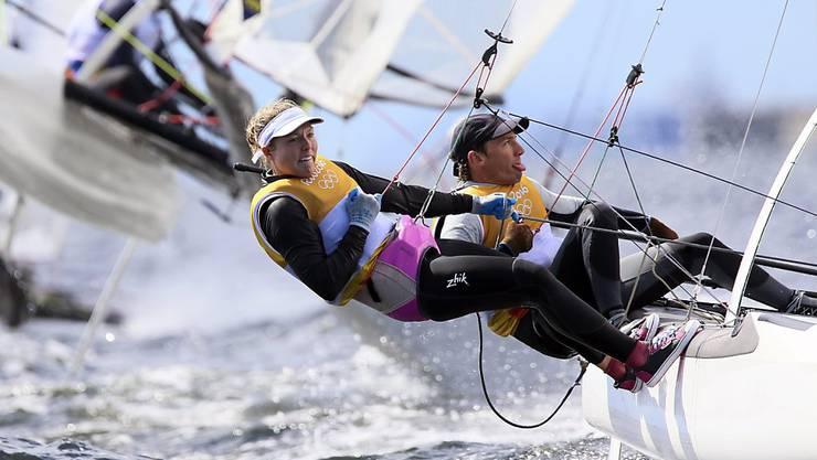 Nathalie Brugger und Matias Bühler trotzen der See