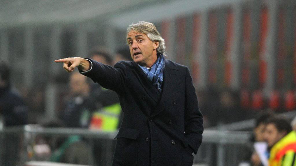 Roberto Mancini steht mit Inter an der Spitze
