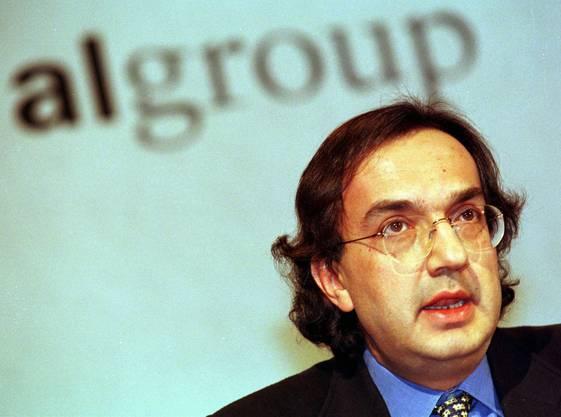 Eine Aufnahme von Marchionne vor bald 20 Jahren: Der Italiener an einer Medienkonferenz 1999.