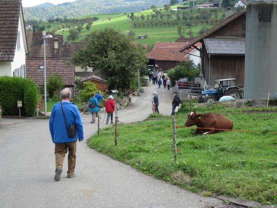 Und so war man jetzt am Zielort in Büren (zählt zum Schwarzbubenland)