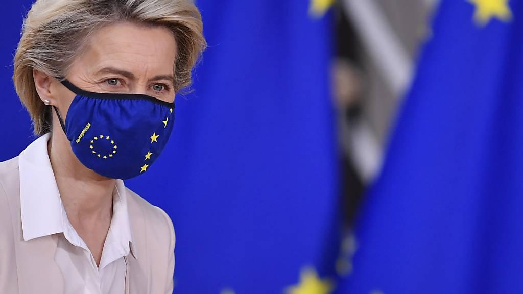 «Europa geht voran»: Ursula von der Leyen, Präsidentin der Europäischen Kommission. Foto: John Thys/Pool AFP/AP/dpa