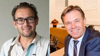 David Burgherr (SP, links) und Andreas Meier (CVP) lehnen das OSA-Projekt ab, nun auch öffentlich.