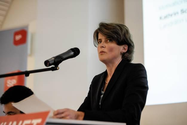 An der Delegiertenversammlung der SP wird Kathrin Schweizer zur RR Kandidatin nominiert.