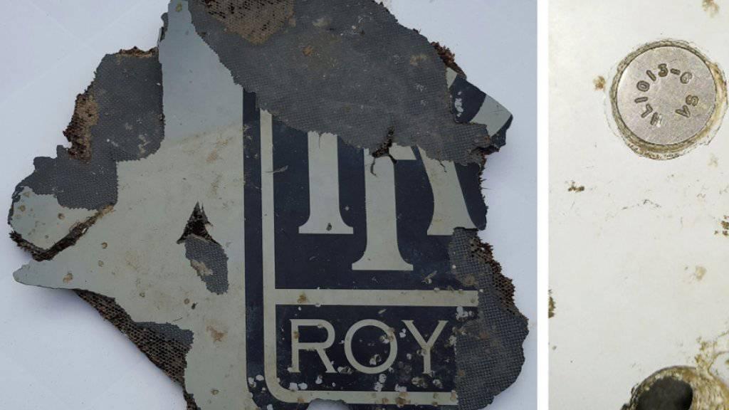 Überresten der verschollenen Malaysia-Airlines-Maschine? Nach dem Fund dieser Stücke im März sollen in Madagaskar neue Teile aufgetaucht sein. (Archivbild)