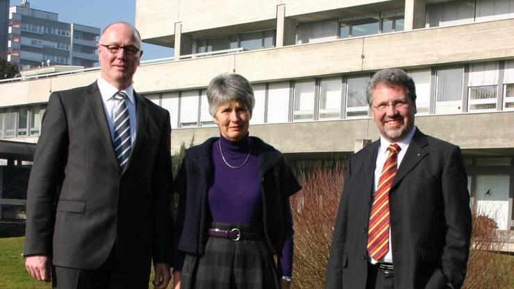 Spitaldirektor Thomas Brack (links) und Maximilian Walter, Präsident der Baukommission (rechts)