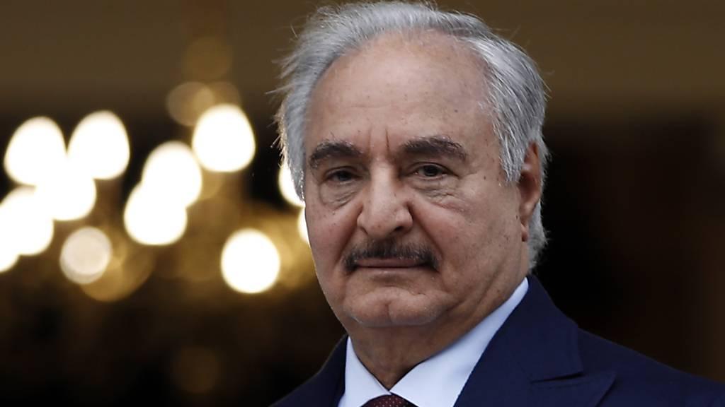 Einflussreicher libyscher General Haftar will Ölblockade beenden