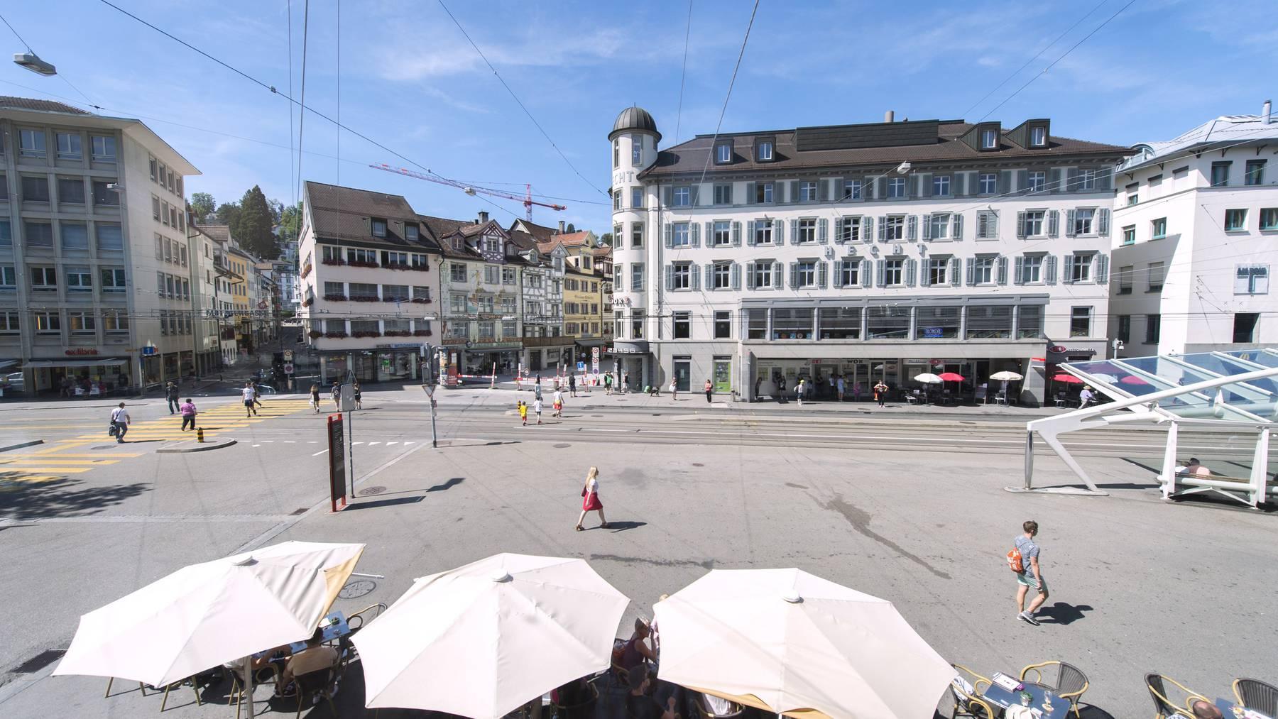 Die Zukunft des Marktplatzes in St.Gallen ist noch offen.