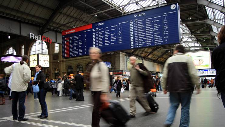 Zentraler Knotenpunkt im Kanton: Am Zücher HB verkehren täglich zehntausende Pendler.